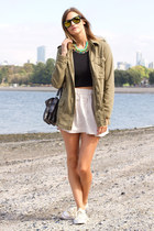green Bauble Bar necklace - army green Urban Outfitters jacket
