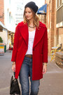 Red-zara-coat-blue-rich-skinny-jeans-black-kate-spade-bag