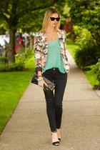 Aritzia blazer - aquamarine Zara shirt