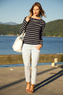 Navy-h-m-top-white-j-crew-pants-nude-zara-sandals