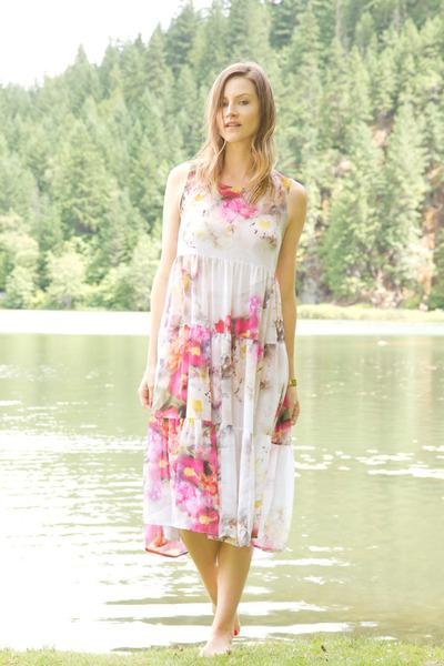 pink floral print June & Hudson dress