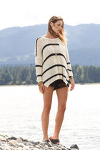 off white free people sweater - black Urban Outfitters shorts
