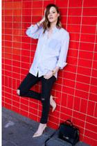 dark gray rag & bone jeans - light blue mens French Connection shirt