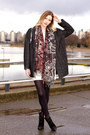 Black-zara-boots-cream-urban-outfitters-dress-gray-urban-outfitters-coat