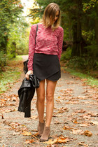 maroon necessary clothing sweater - tan Vince Camuto boots