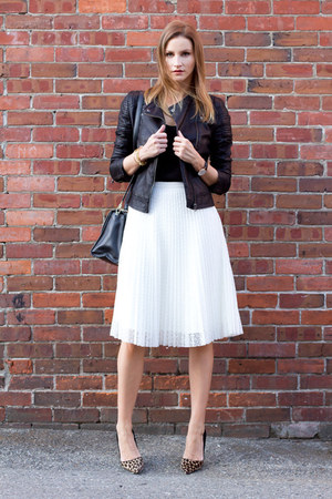 black Topshop jacket - white Topshop skirt