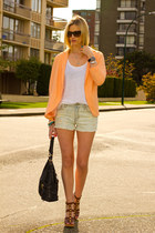 light orange H&M blazer