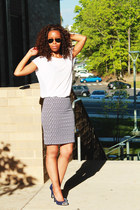 H&M skirt - Prabal Gurung pumps