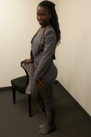 leather Vince Camuto boots - leather Guess Marciano leggings - Kopa blazer