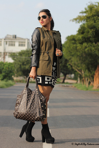 olive green Sheinside jacket