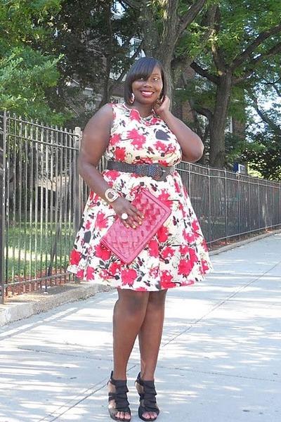 ruby red floral prints asos dress - black floral print asos dress - tan floral p