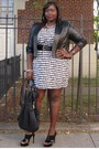 White-houndstooth-dots-dress-black-leather-shrug-jessica-london-jacket
