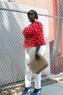 White-skinny-jeans-faith21plus-jeans-tan-straw-gifted-bag-white-polka-dots-h