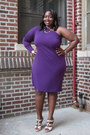 Deep-purple-multi-purpose-igigi-dress-hot-pink-colorblock-bakers-pumps