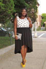 Black-hi-low-forever21-skirt-white-polka-dot-tank-loft-blouse