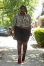 Gold-waistband-kmart-shorts-leopard-print-kenneth-cole-plus-blouse-black-ken