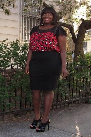 ruby red lace torrid blouse - black platforms Jessica Simpson shoes