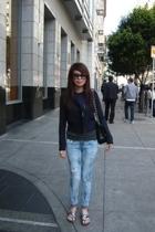 blazer - H&M t-shirt - Slinky jeans - shoes - Chanel purse