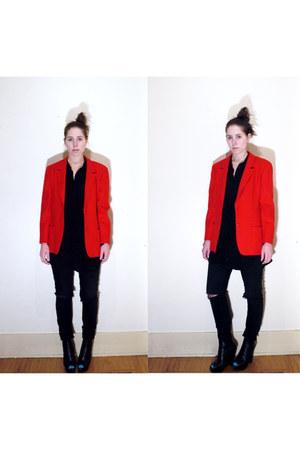 red Pendleton blazer