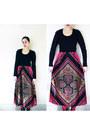 Hot-pink-vintage-1960s-maxi-dress