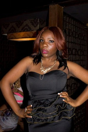 black pink dress - gold Forever 21 necklace