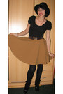 Leather-boots-thrift-hat-diy-skirt-bow-belt-belt