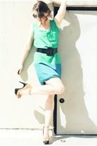 aquamarine Thakoon for Target dress - aquamarine Forever 21 sunglasses - tan Jes
