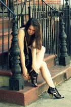 black Charlie My Love shoes - black cynthia steffe dress - black Marc Jacobs bag
