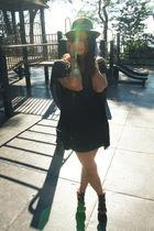black bird by juicy couture dress - black rachel roy shoes - black Charlie My Lo