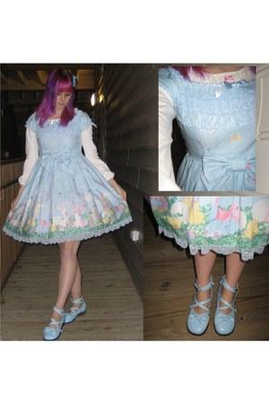 sky blue sax tea parties Antaina shoes