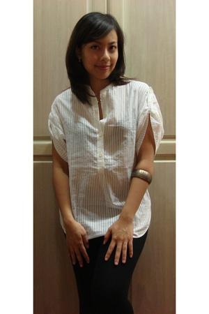 Gap blouse - Topshop pants - Bazaar accessories