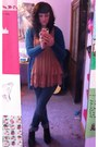 Topshop-dress-bamboo-wedges-jcpenney-cardigan