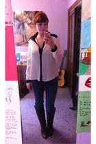 blouse - boots