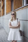 White-mohito-dress-heather-gray-zara-bag-black-prada-sunglasses