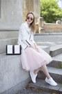 White-new-yorker-jacket-white-h-m-bag-white-reebok-sneakers