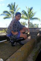 printed hula moon dress