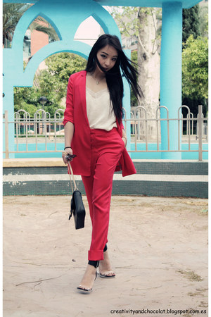 silk COS blazer - COS pants - H&amp;M top - Jeffery Campbell sandals
