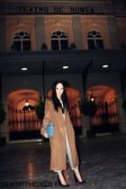 Zara coat - Zara jeans - old hat - Zara bag - Zara heels