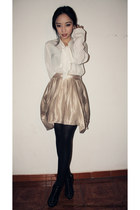 Massimo Dutti skirt - Zara blouse - Zara heels