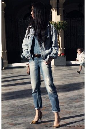 Mango jeans - Lee jacket - Zara shirt - Bimba&Lola heels