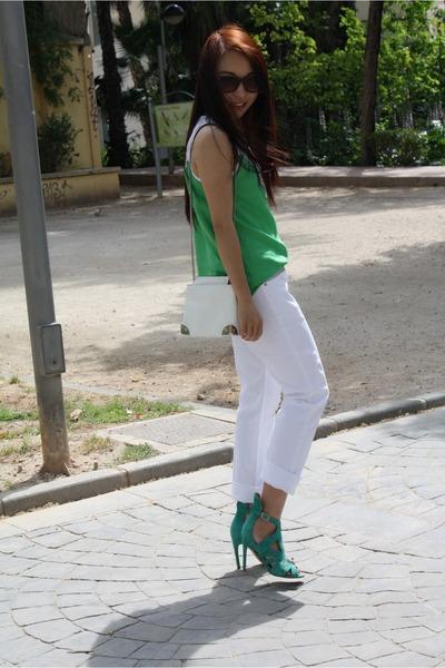 Zara jeans - Zara shirt - Zara bag - Zara heels