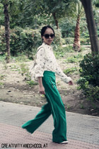Mango glasses - Guess bag - Zara blouse - Zara pants - Mango heels