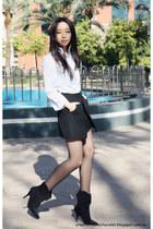 Zara shirt - Mango boots - Zara skirt
