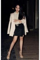 Zara skirt - ZARA STUDIO blazer - Pedro del Hierro blouse - Zara sandals