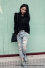 Denim-mango-boots-boyfriend-jeans-zara-jeans-golden-zip-zara-jacket