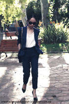 Zara blazer - Zara bag - hm earrings - Zara pants - Zara heels