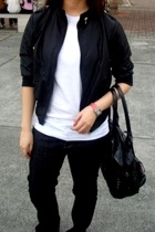 SM jacket - American Apparel shirt - bench jeans