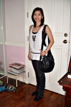supre top - supre - belt - Topshop purse - boots - Accessorize necklace