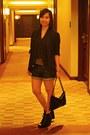 Topshop-blazer-forever-21-shorts-parisian-boots