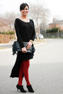 Forever-21-dress-h-m-leggings-aldo-pumps-myles-sexton-ring-h-m-necklace